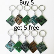 Buy 5 get 5 Free - Circuitboard Keychains