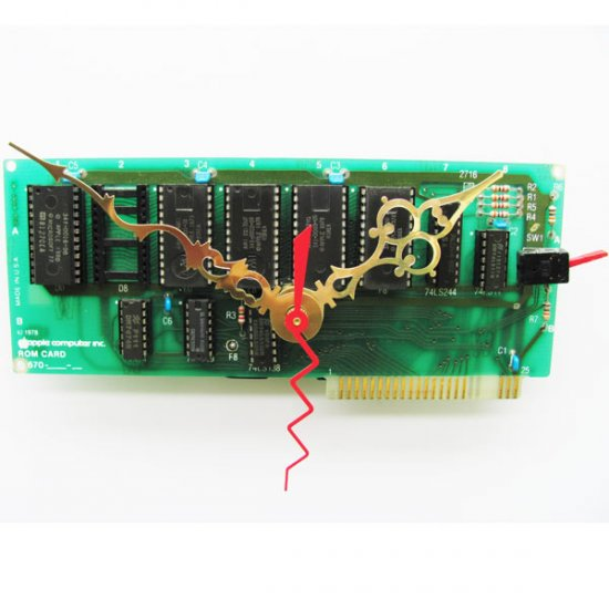 Apple Clock - 1978 Circuitboard - Click Image to Close