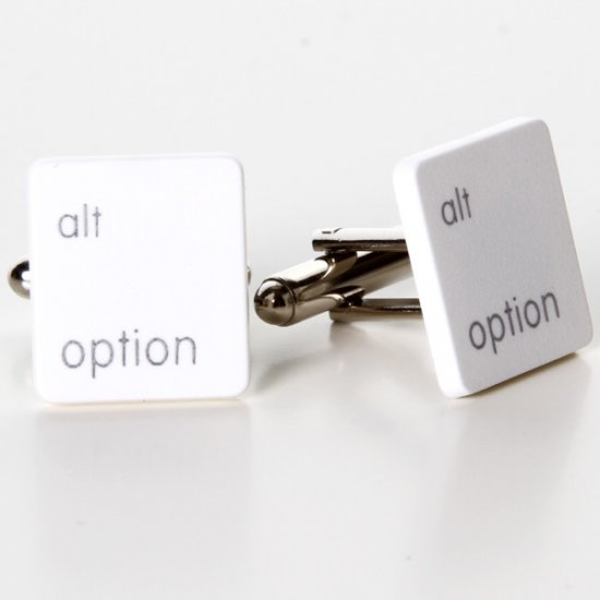 MacBook Alt Option Key Cufflinks - Click Image to Close