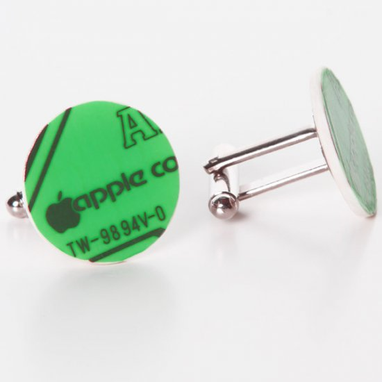 Apple Circuitboard Cufflinks - Click Image to Close