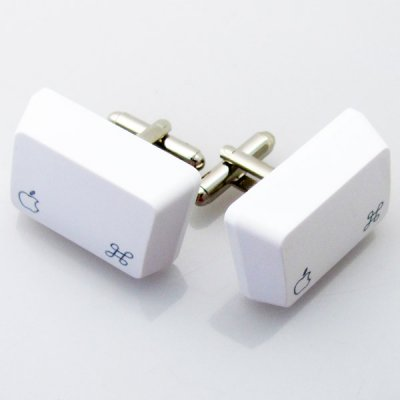 Apple Cufflinks - White