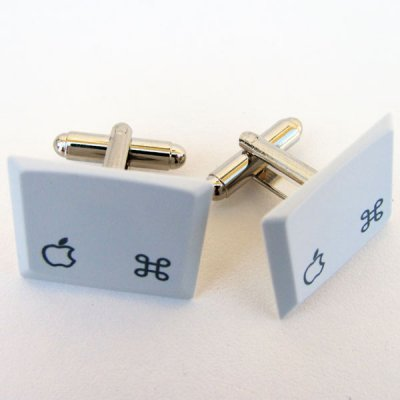 Apple Laptop Cufflinks - Apple Logo