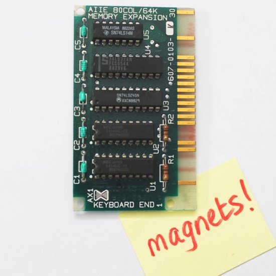 1986 Apple IIe 64K circuitboard Fridge Magnet - Click Image to Close
