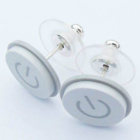 Macbook Power Button Earrings - Click Image to Close
