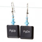 Black Laptop Earrings - Page Up / Down