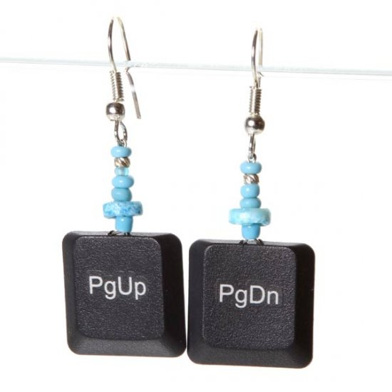 Black Laptop Earrings - Page Up / Down - Click Image to Close