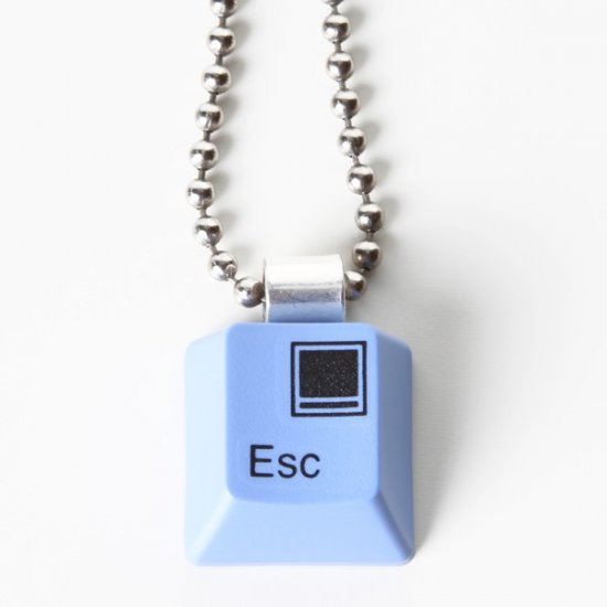 Blue Escape Key Necklace - Click Image to Close