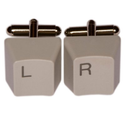 Keyboard Cufflinks - Left/Right, grey