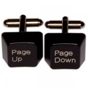 Keyboard Cufflinks - Page Up/Down, Black
