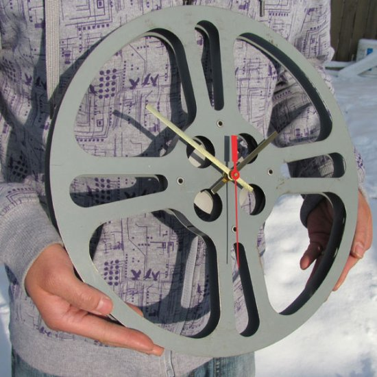 NEW! Vintage Film Reel Clock - XLarge - Click Image to Close