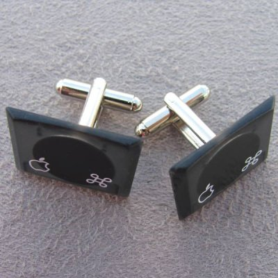 Apple Cufflinks - Black Laptop