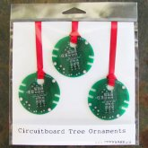 Circuitboard Tree Ornament Set