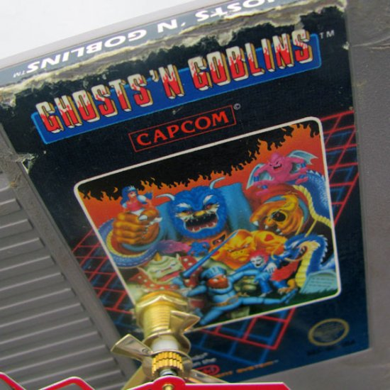 Nintendo Game Cartridge Clock - Ghosts N Goblins - Click Image to Close