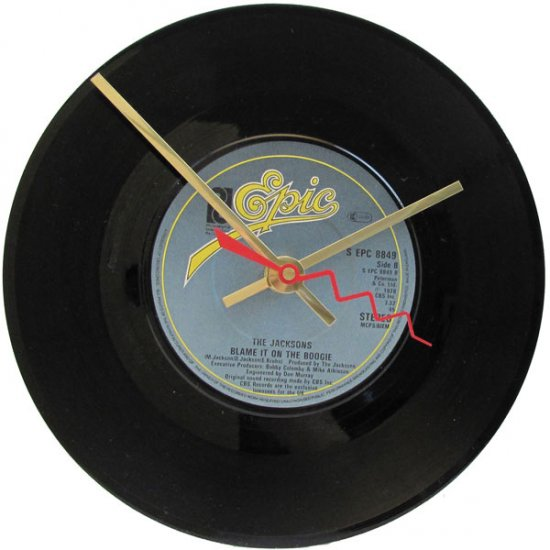 The Jacksons Record Clock - Blame It On The Boogie - Click Image to Close