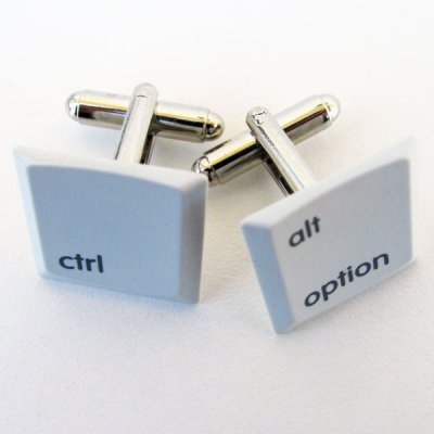 Laptop Cufflinks - Ctrl/AltOption, Light Grey