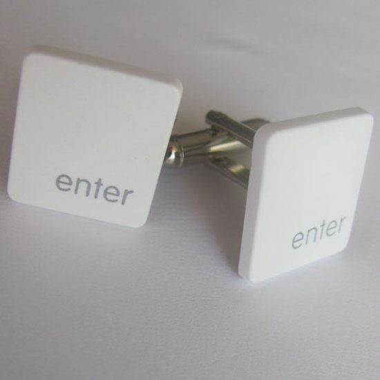 MacBook Cufflinks - Enter Key - Click Image to Close