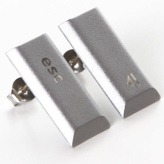 MacBook Pro Stud Earrings - Esc Eject - Click Image to Close