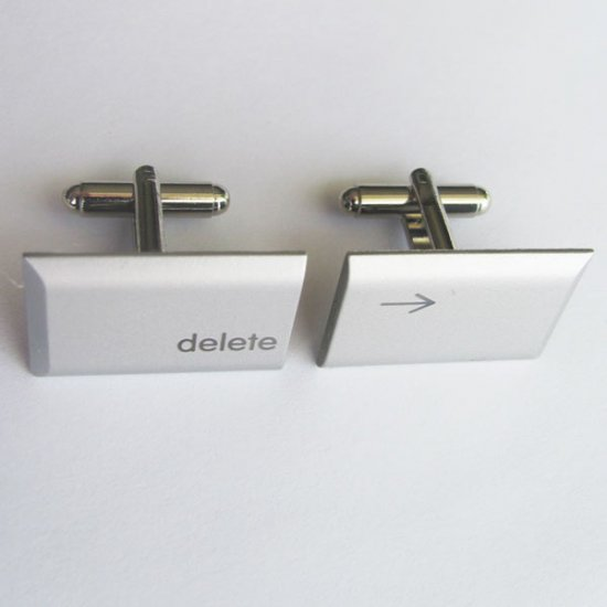 MacBook Pro Cufflinks - Large Delete Keys - Click Image to Close