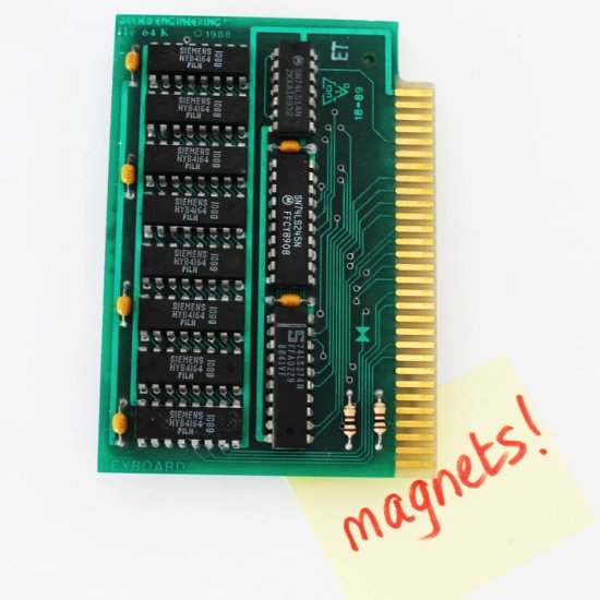 1988 Apple IIe 64K circuitboard Fridge Magnet - Click Image to Close