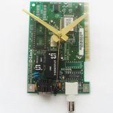 Circuitboard Clock - Small with gold hands (# 2)