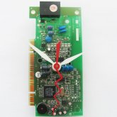 Circuitboard Clock - Small with white hands (#4)