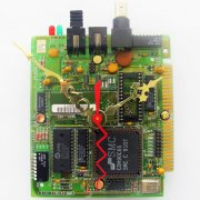 Circuitboard Clock - Small with gold hands (#6)