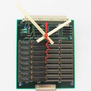 Circuitboard Clock - small with gold hands