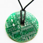 Circuitboard Donut Necklace