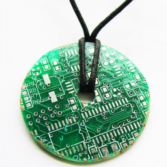 Circuitboard Donut Necklace - Click Image to Close