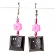 Pretty In Pink Flowers Earrings