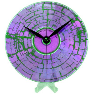 CD Clock - Purple