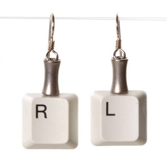 Right Left Keyboard Earrings - Click Image to Close