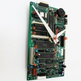 Circuitboard Clock - Medium with silver hands