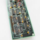 Circuitboard Clock - Medium Slim with silver hands