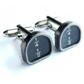 Typewriter cufflinks - 1/4 1/2 Keys