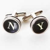 Typewriter Key Cufflinks - NY Round Keys