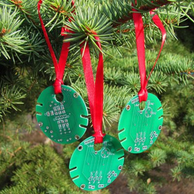 recycled computer ornaments - Recycled Christmas Ornaments