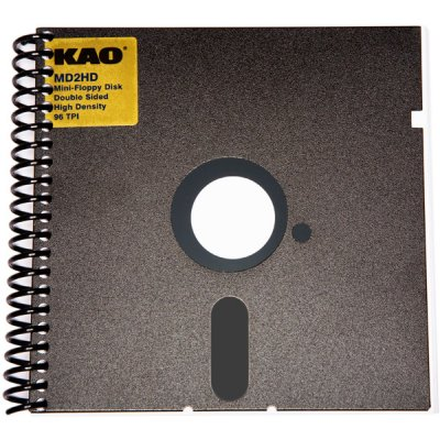 Recycled diskette notebooks from GEEKWARE